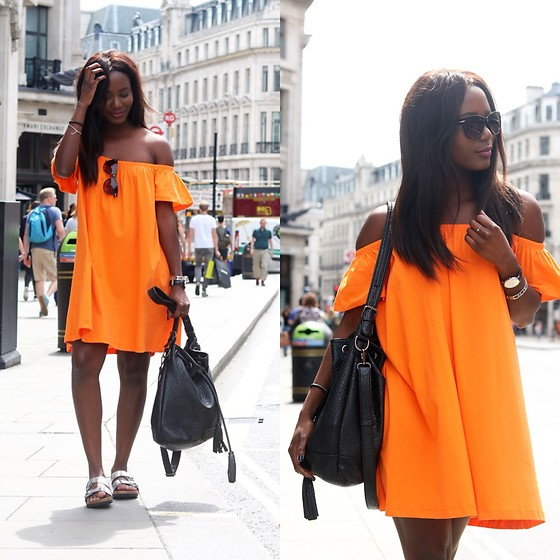 Emma Brown -  - Orange dress at the oxford street