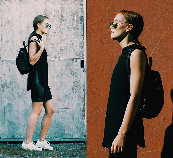 Petra Karlsson - Shein Top, Chicuu Skirt, Dolce Donna Backpack, Adidas Sneackers - Back to cool