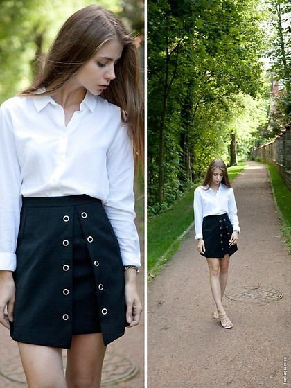 Anna Vershinina - Sheinside Skirt - Black and White