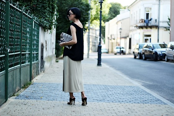 Ewa Macherowska - Second Hand Top, Second Hand Skirt, Ccc Mules, Promod Bag, C&A Sunnies - Sunday afternoon