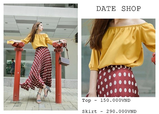 Ang Nguyen - Date Shop Pleated Skirt, Date Shop Yellow Top - Color Girl