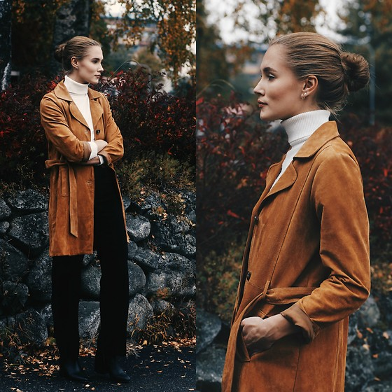 Petra Karlsson - Monki Coat, Bik Bok Pants, Asos Shoes, Weekday Earrings - Fall