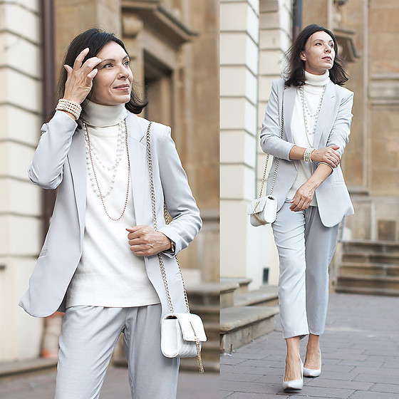 Minimalissmo .. - Sheinside Pants, Valentino Bag, Reserved Blazer - Grey is fine