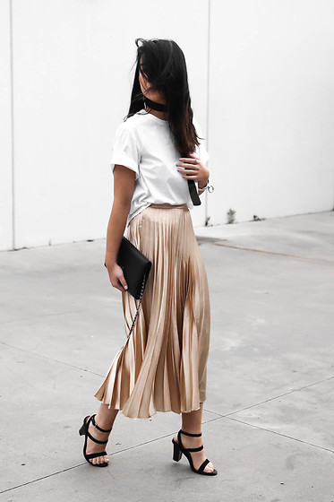 Kristy Wu - Pleated Skirt - GOLD PLEATS