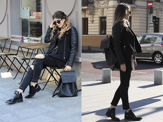Diana Ior - Zara Backpack, Zara Ripped Jeans, Zara Ankle Boots, Forever 21 Top - Lost In The City