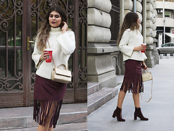 Diana Ior - Asos Suede Skirt, Zara Suede Boots - On The Way