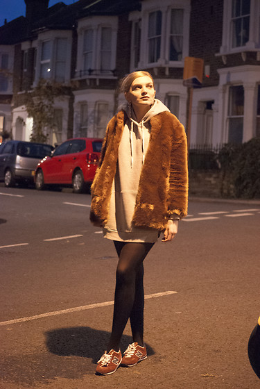 Carla V - Zara Faux Fur, Zaful Hoodie, New Balance Trainers - Be Your Best Self