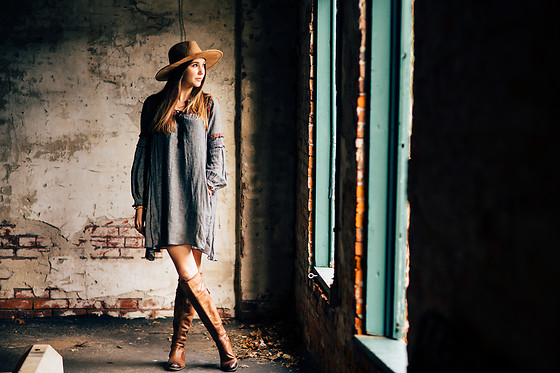 Gabrielle L. - Free People Grey Pocket Dress - Don't let monday ruin your sunday