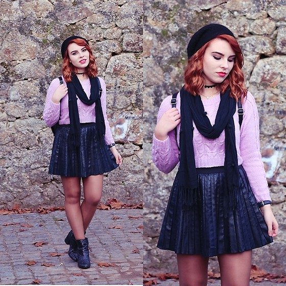 Carina Gonçalves - Made By My Mom Sweater, Primark Skirt, Bershka Boots - Don't be afraid to be who you are