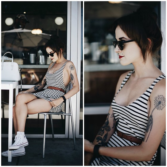 Kiana Mc - Warby Parker Glasses, American Apparel Tank, Converse Shoes - Santa Barbara