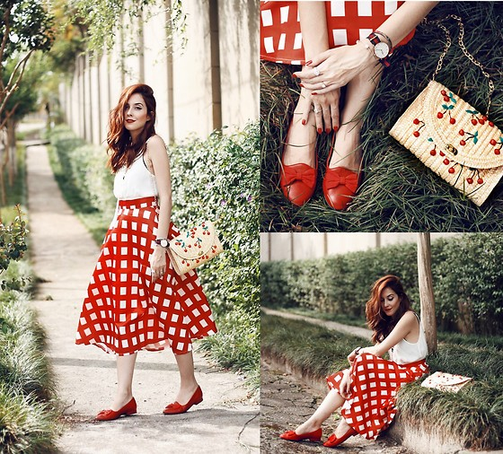 Flávia Desgranges van der Linden -  - Red Gingham Skirt