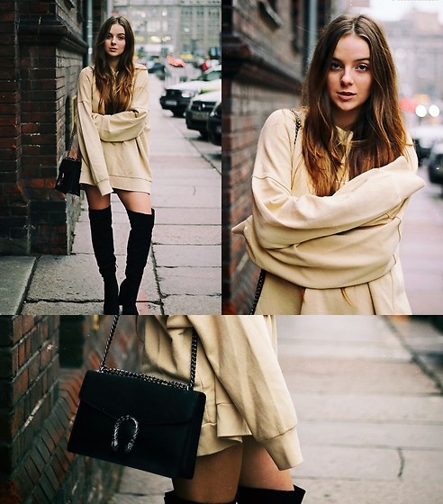 Joanna Vi - Bershka Long Sleeve Blouse, Gucci Bag - Long sleeve