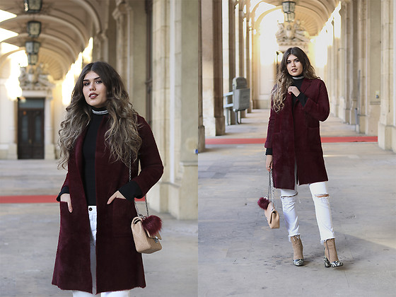 Diana Ior - Vipme Fur Coat (5$ Off With Code Diana430), H&M Ripped Jeans, Asos Boots, Zara Turtleneck Jumper - Fine Wine