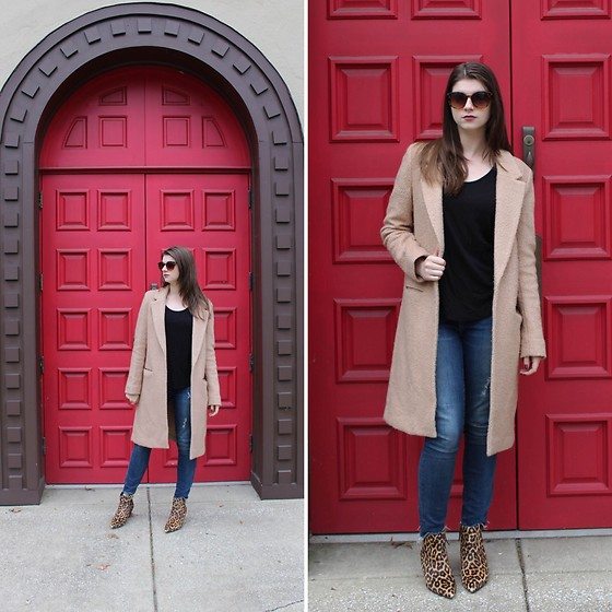 Tracie Marie - Forever 21 Camel Coat, Steve Edelman Leopard Boots - Just a Girl and Her Camel Coat