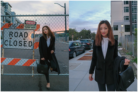 Qianwen Chen - Madewell Velvet Jacket, Givenchy Small Shark - Double Jackets