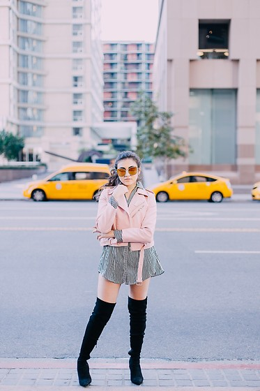Dolledupbee - Simmi Shoes Boots, Zara Moto Jacket - NY OR LA?