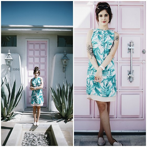 Kiana Mc - H&M Dress, Warby Parker Sunnies, Everlane Loafers - That Pink Door - Palm Springs