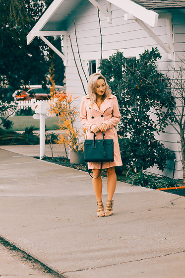 Hayley Larue -  - Pretty Pink Trench Coat