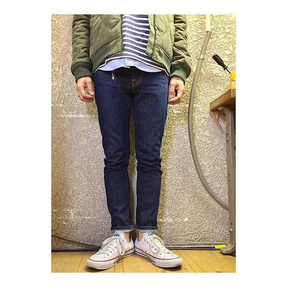 Keysyu Takagi - Rageblue Outer, Saintjames Cut And Sew, Globalwork Shirt, Nudie Jeans, Converse Shoes - Outfit