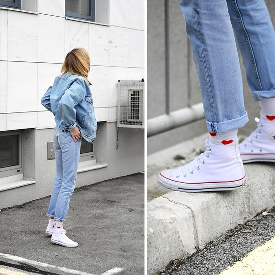 Katarina Vidic - Levi's® Levi's 501, All Items On My Blog - Happy socks.