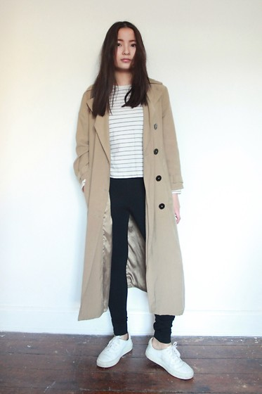 Yuhan Zhang - Zara Coat, Muji Shirt, Zara Legging, Other&Stories Shoes - Daily outfit