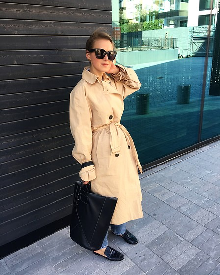 Anna Borisovna - Edited Trenchcoat, Céline Sunnies, Mango Bag, Mango Shoes - The Trench