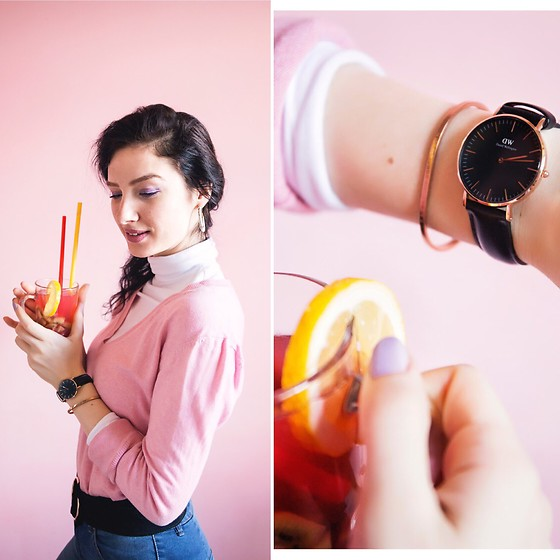 Natasha Karpova - Daniel Wellington Black Watch, Daniel Wellington Rose Gold Bracelet - My spring with DW