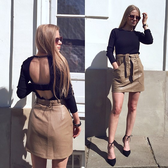 Aneta Kramarska - Zara Blouse, Stradivarius Fake Leather Skirt, New Look Shoes - Classy Sassy