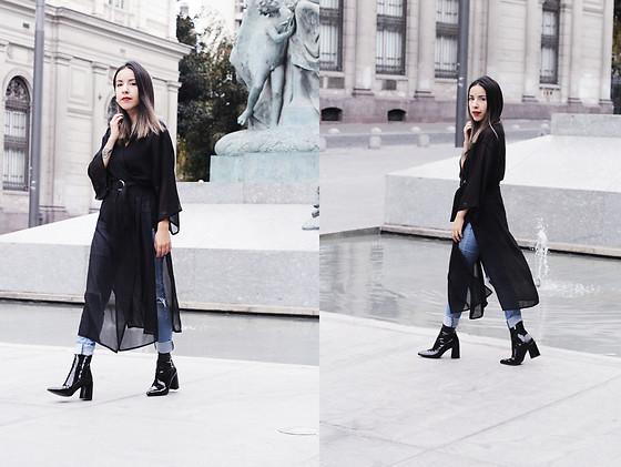 online retailer uk store quality Vivi Valenzuela - H&M Black Long Kimono, Primark Skinny ...