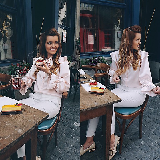 Cristina Gheiceanu - Lilysilk Blouse - Flirting with my diet