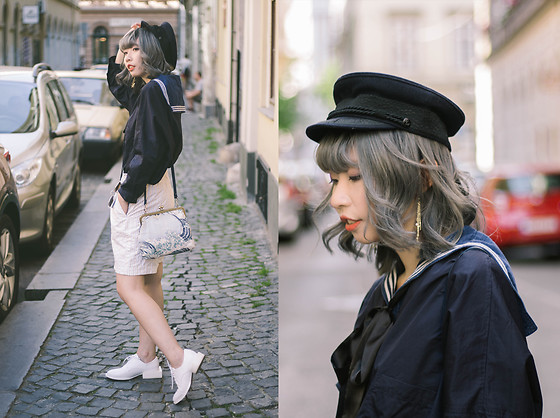 Kennie Cheng - Cos Shirt, Jacquemus Shoes - NAVY