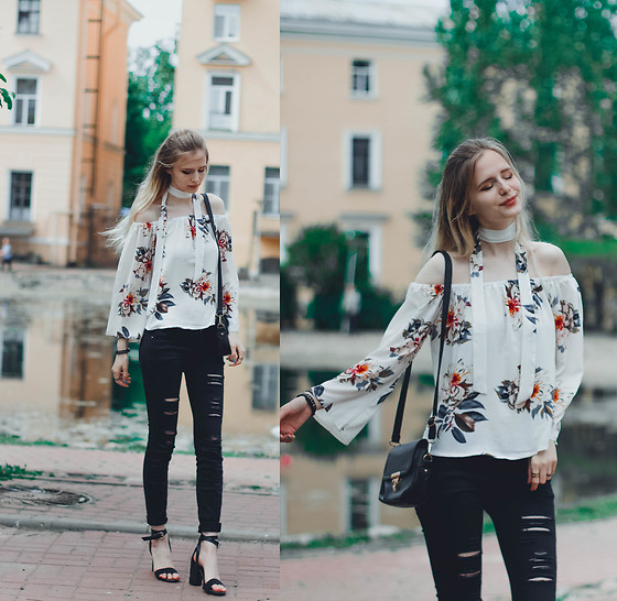 Mary Volkova - Sandals, Blouse - Flowers