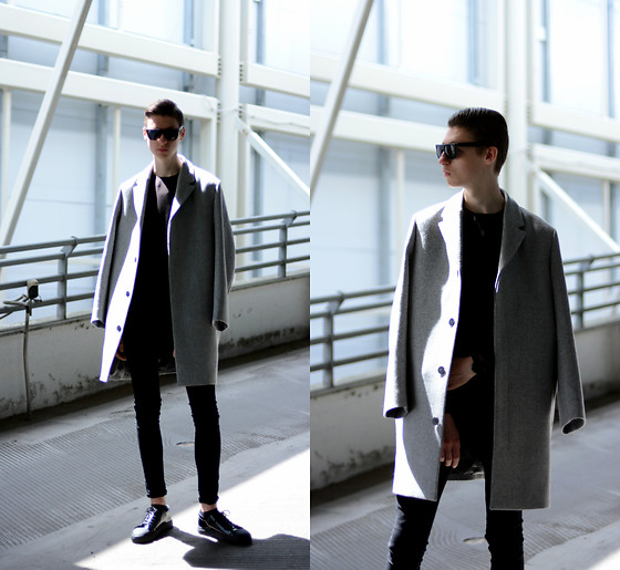Andrejs Šemeļevs - Cos Coat, New Look Jeans, Cos Sneakers, The5th Watches, H&M Sunglasses - NEW COS AW/17