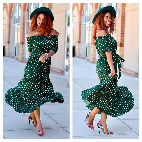 TOMGFASHION COM - Shein, Steve Madden Floral Pump - Polka Dot Weekend