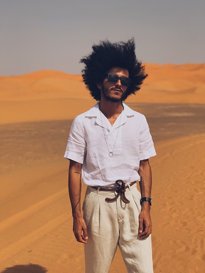 Marco Moura - Zara Pants, Zara Shirt, Asos Sunglasses, Asos Watch - One more day in desert