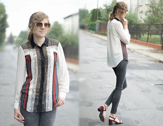 Kamila Krawczyk - Marks & Spencer Blouse, Zara Jeans, Rosegal Sandals, Lovelywholesale Sunglasses - How To Wear Patterns This Autumn?