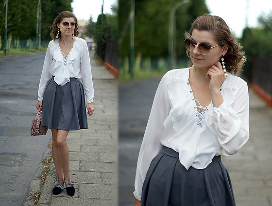 Kamila Krawczyk - Shein Blouse, Chanel Sunglasses, Zaful Bag, Sammydress Shoes, Lovelywholesale Earrings - You be my dream