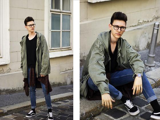 Luka Lajic Zara Jacket, C&A Shirt, Vans Sneakers, Zara