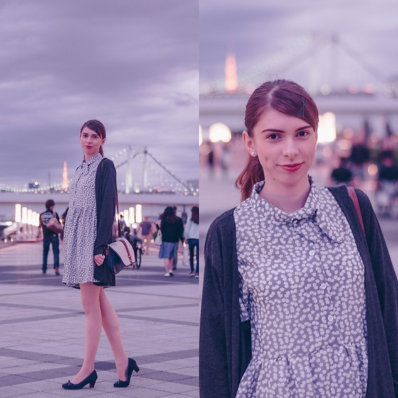 Ana B - Korean Dress, H&M Cardigan - Odaiba