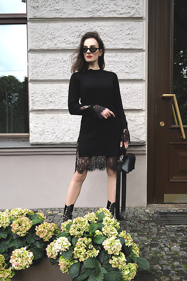 Anna Puzova - Zaful Dress, Stuudio Nahk Bag, Gamiss Boots, Rosegal Shades - BLACK WIDOW. REVAMP