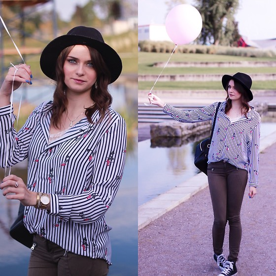 Audrey - Jennyfer Shirt, Stradivarius Pants, Converse Sneakers, Pimkie Hat - Look with a balloon