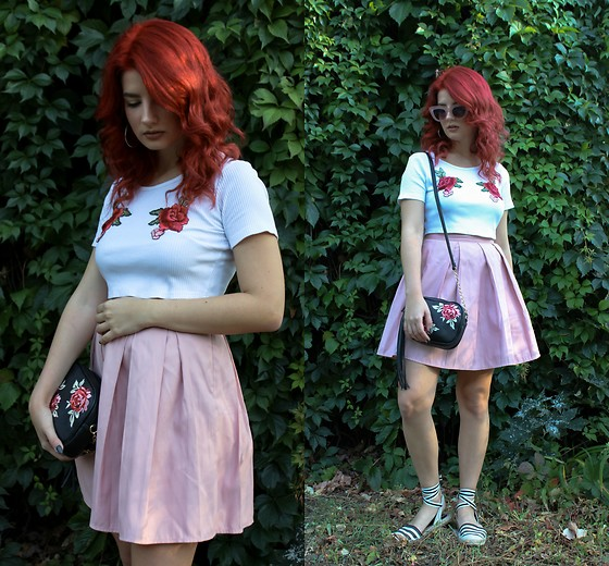 Vlada Kozachyshche - Shein Top, Stradivarius Skirt, Stradivarius Sandals, Rue21 Bag, Stradivarius Earrings - Colorista