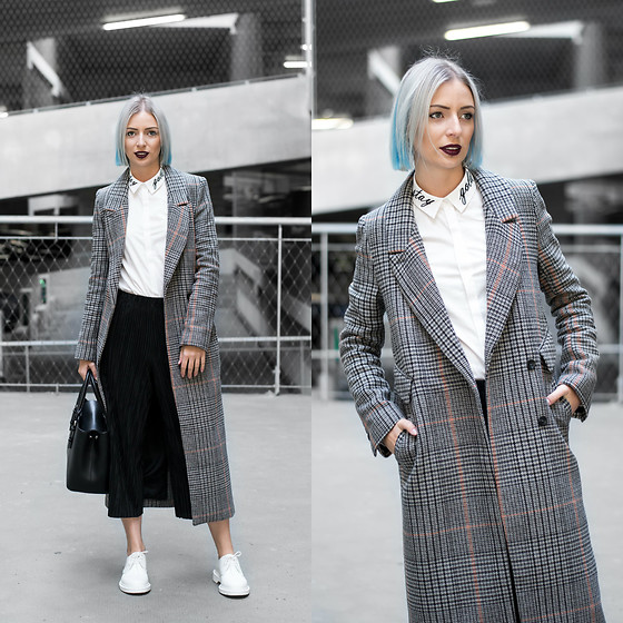 Nena F. - H&M Coat, Topshop Trousers, Marc B Bag, Dr. Martens Shoes, Q/S Designed By Shit - Q/S designed by Robin Schulz