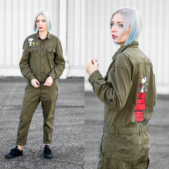 Nena F. - Zara Jumpsuit, Converse Shoes - Peanuts boilersuit