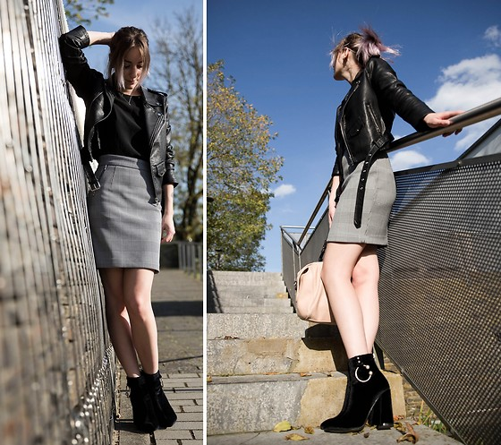 Saskia B. - Public Desire High Heels, Zaful Perfecto, H&M Prince Of Walles, Mango Spiked Top - New boots <3
