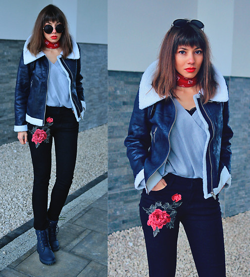 Jointy&Croissanty © -  - Shearling jacket and embroidered jeans