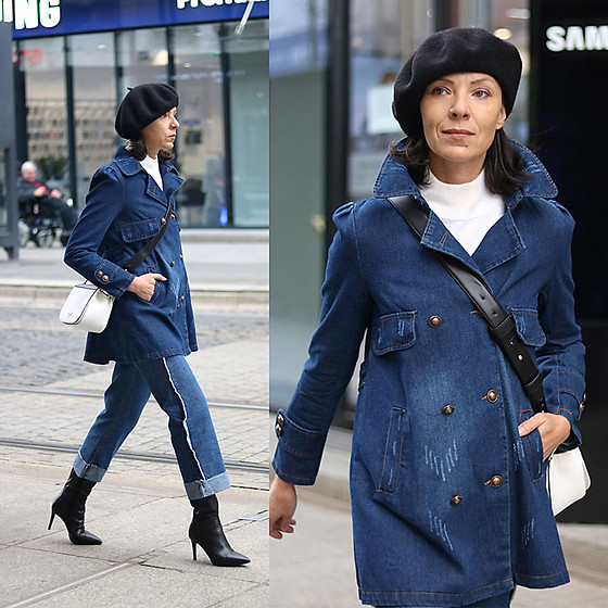 Minimalissmo .. - Sammydress Denim Coat, Conhpol Boots, Rosegal Bag, Zaful Pants - Total denim