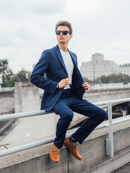 Anton Dee - Jaeger Blazer, Jaeger Shoes, Jaeger Jumper - Jaeger Lookbook 01