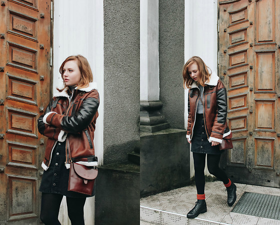 Kristina Magdalina - Poppy Lovers Jacket - Oversized Vegan Leather Jacket