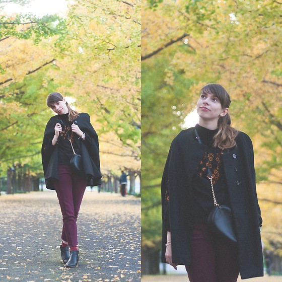 Ana B - Koton Wine Color Pants, Michael Kors Bag, Daniel Wellington Watch - Autumn in Tokyo